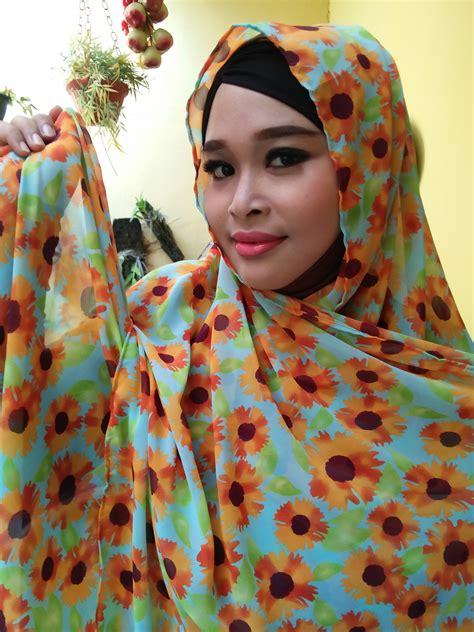 Pashmina Viscose Motif Abstrak pashmina bunga matahari toska orange abstrak scarf