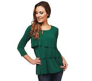 Http Www Qvc Com Sweepstakes - susan graver liquid knit tiered 3 4 sleeve top colors the o jays and sleeve