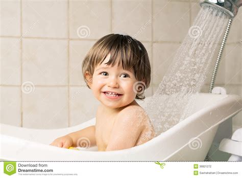 bathing in bathtub baby bathing stock photography image 36821272