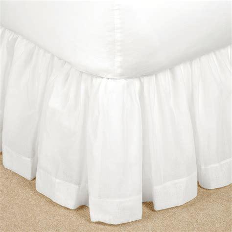 sheer bed skirt bethany semi sheer voile gathered bedskirt