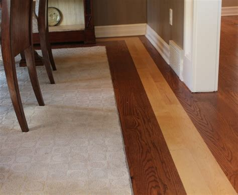 can you mix hardwood flooring in a house dining room floor with contrasting border remodeling