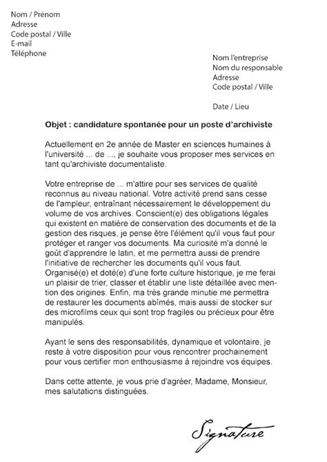Lettre De Motivation De Negociateur Immobilier Lettre De Motivation Archiviste Mod 232 Le De Lettre