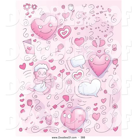doodle pink royalty free valentines day stock doodle designs