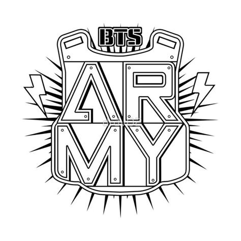 army logo coloring pages bts logo army buscar con google bts