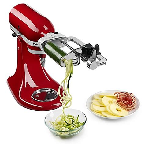bed bath beyond spiralizer kitchenaid 174 spiralizer plus with peel core and slice stand mixer attachment bed