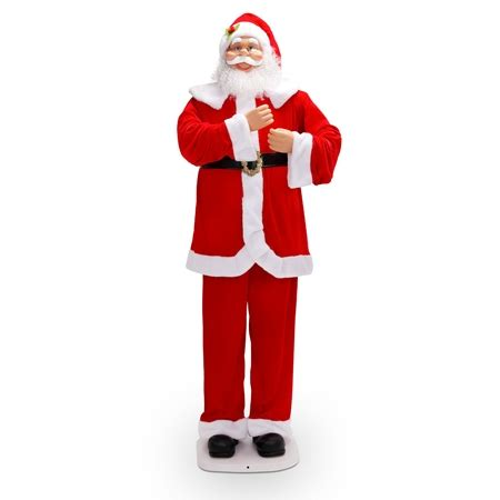 walmart singing and dancing santa claus 1 88m singing santa claus shopping shopping square au bargain