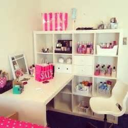 Makeup Vanity Lots Of Storage Desk Organization Bedroom Desk