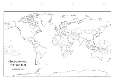 World Political Map Outline Printable by World Political A4 Outline Ring Binder Political World Wall Maps Posters Global