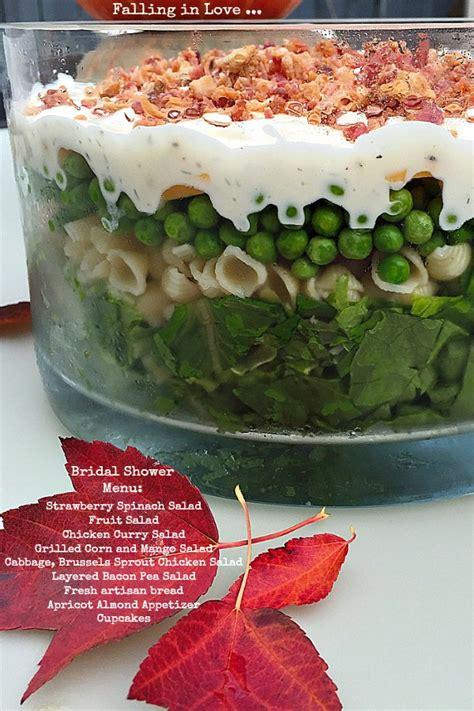 bridal shower fruit salad recipes layered bacon pea pasta salad