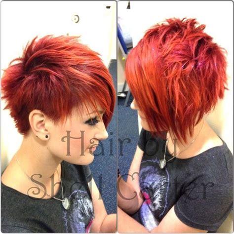 three dimension hair cuts red short spikey hairstyle girls haircuts girl haircuts