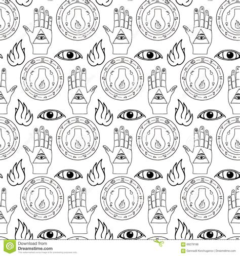 seamless eye pattern seamless pattern all seeing eye stock vector image 69279188