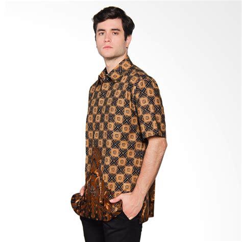 Harga Batik Danar Hadi Surabaya jual danar hadi pendek motif ceplok gunung kemeja batik black 03 0317 cgms6