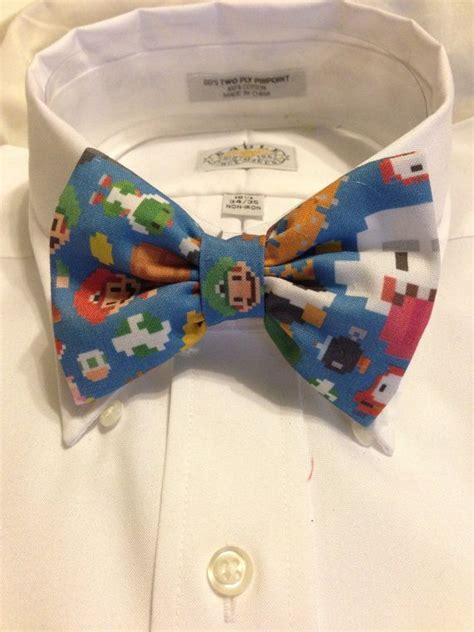 Pin Bros Printing paper print bowtie bow tie or hair bow nintendo