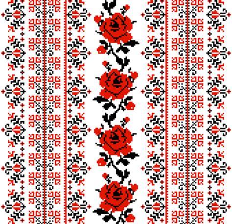 ukrainian pattern vector ukrainian styles embroidery patterns vector set 01