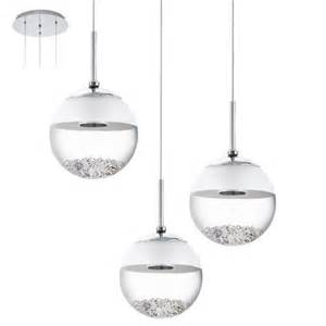 pendelleuchte mit kristallen 3 flammige led pendelleuchte rund mit glaskugeln und