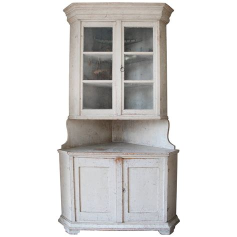 Cabinets Cupboards Swedish Corner Cabinet For Sale At 1stdibs