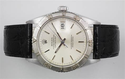 Rolex Detik Bawah White Silver Cover Black rolex oyster perpetual datejust turn o graph 1625 original silver 1958 ebay
