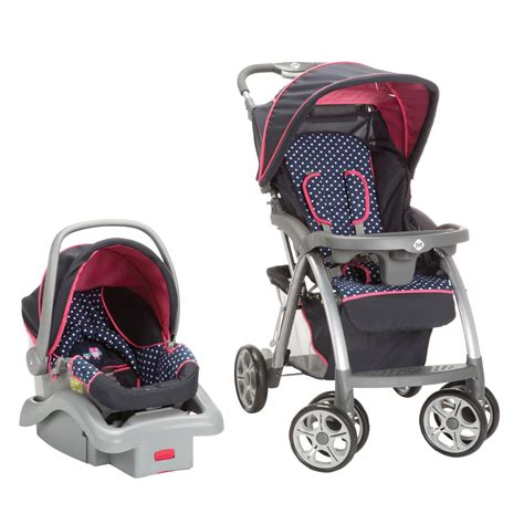 purple polka dot car seat and stroller s as a hoot travel system pink polka dot