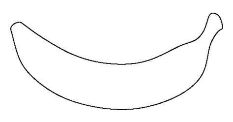 banana template printable banana pattern use the printable outline for crafts