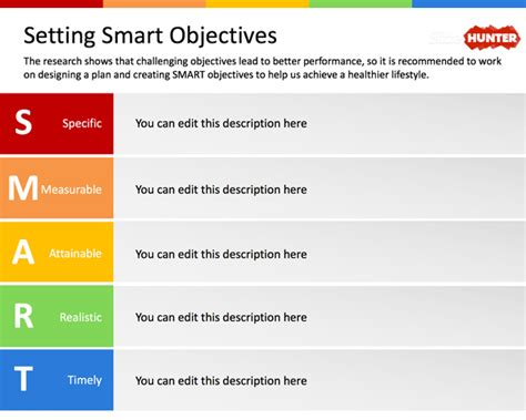 setting goals and objectives template free setting smart objectives powerpoint template free