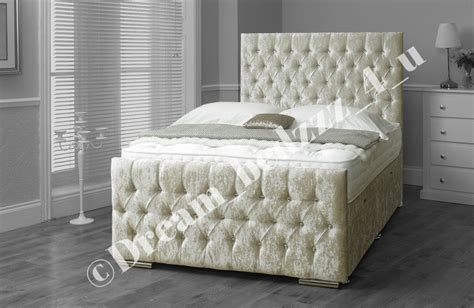 Divan Headboard by Crushed Velvet Storage Ottoman Lift Up Divan Bed Headboard