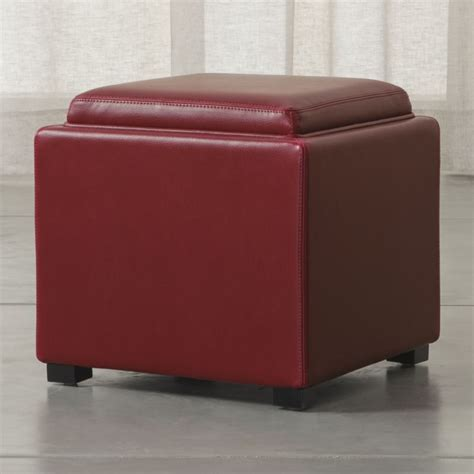 crate and barrel leather ottoman stow 17 quot leather storage ottoman crate and barrel