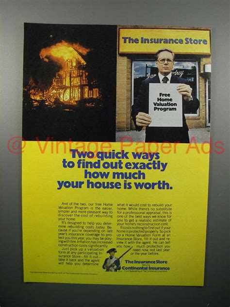 how much is house insurance 1977 continental insurance ad how much house is worth