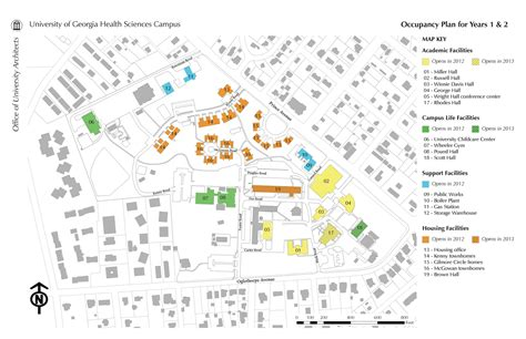 uga map health sciences cus update july 2012 uga today