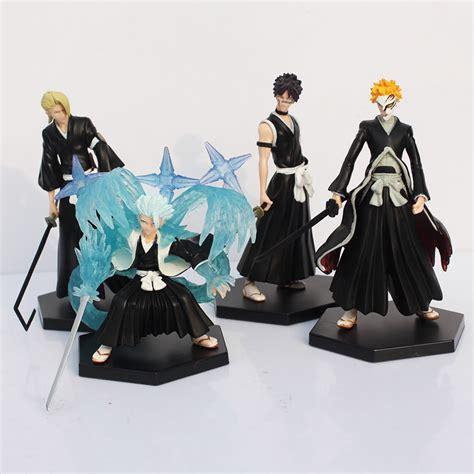 Set Ichigo anime ichigo toushirou rangiku sousuke pvc figures toys 4pcs set free shipping in