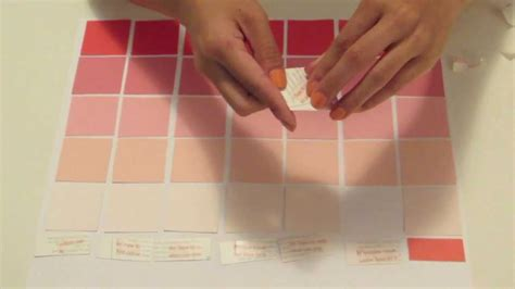 diy erasable paint swatch calendar