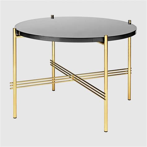 Ts coffee table dia 55 brass base de gubi raphaele meubles