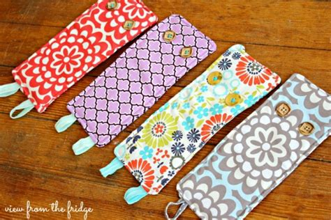 easy craft sewing projects diy easy koozie sewing project by view from the fridge