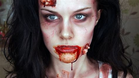 zombie girl makeup tutorial zombie makeup tutorial youtube