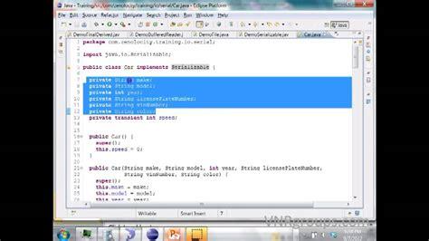 youtube tutorial java programming java serialization tutorial with programming youtube