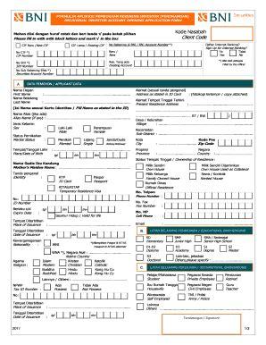 pembukaan rekening bca secara online formulir pembukaan rekening bank bni fill online