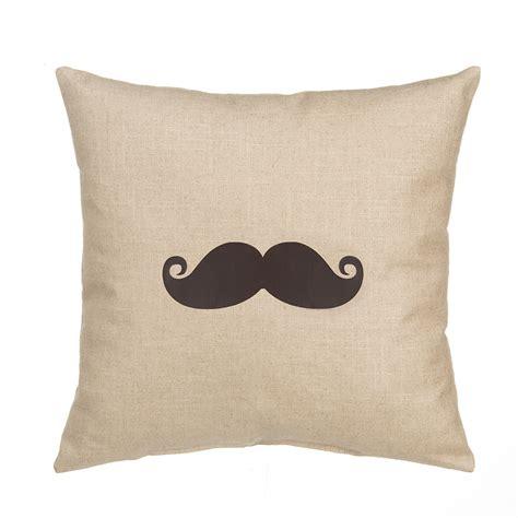 grouchy goose pillow cover quot mustache quot linen