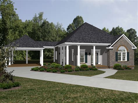 house with carport foxbridge ranch home plan 069d 0115 house plans and more