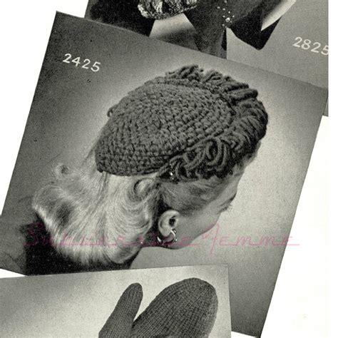crochet pattern vintage hat free vintage crochet pattern 1940s fantastic frilled hat