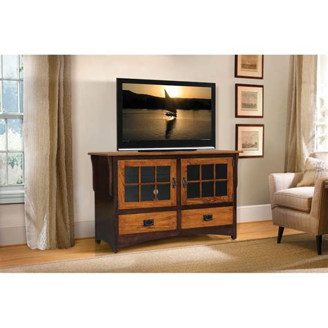 New Mission Collection TV Stand Two Tone   Amish Crafted