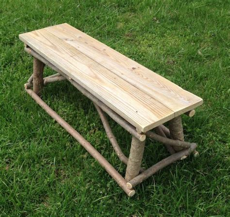twig bench plank top twig bench aftcra