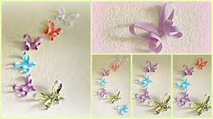 How To Make Paper Butterfly Decorations - diy room decor 3d paper butterflies