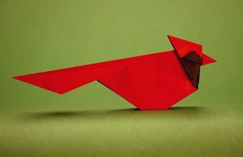 Origami Cardinal - origamido advanced origami