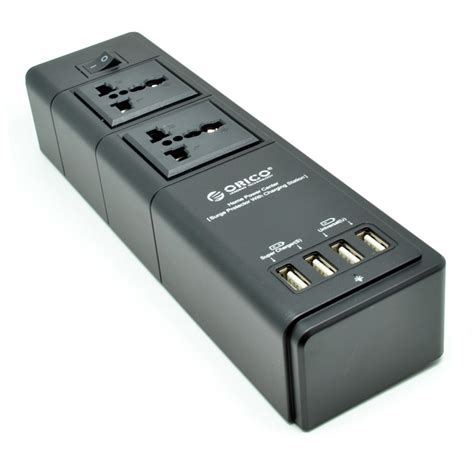 orico wall charger with 2 ac outlet and 4 usb charger port