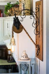 Barn Door Pulleys Barn Pulley Edison Rope Light With Glass Insulator On A