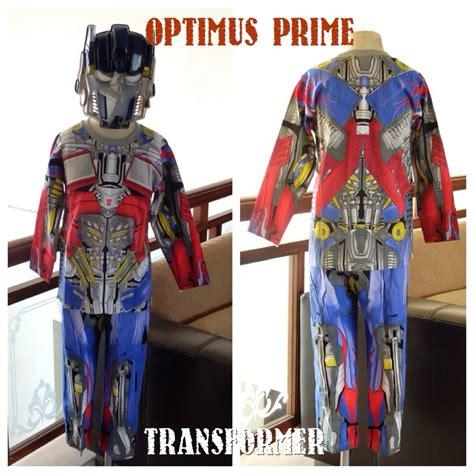 Baju Anak Stelan Kostum Transformers 1 10 Th 3 In 1 kaos anak karakter optimus prime superheroku