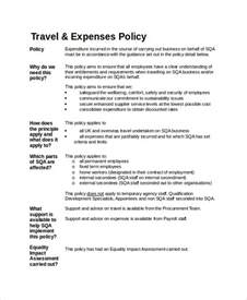 Travel And Expense Policy Template travel policy template 7 free word pdf document downloads free premium templates