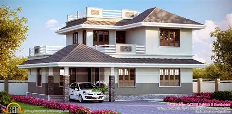 kerala home design thrissur beautiful european style modern house keralahousedesigns