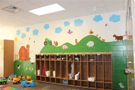 daycare wall murals colorful wall murals for every age at early childhood center in wiscon