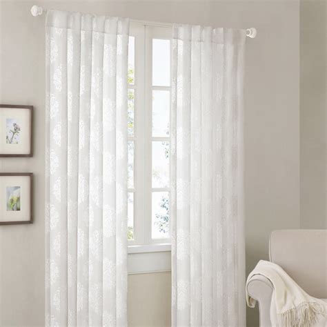 curtains 95 inches madison park emerson damask 95 inch curtain panel