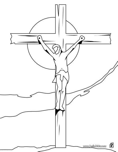 coloring pages jesus crucified crucifixion of jesus coloring pages hellokids